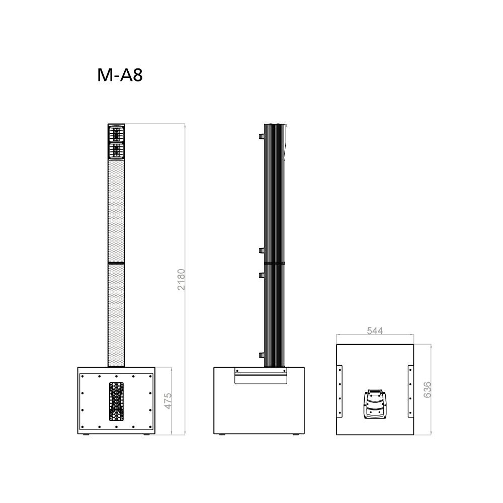 18 mm 多层板,聚脲漆 音柱:     密闭式,6063铝合金,hd 涂层 连接器