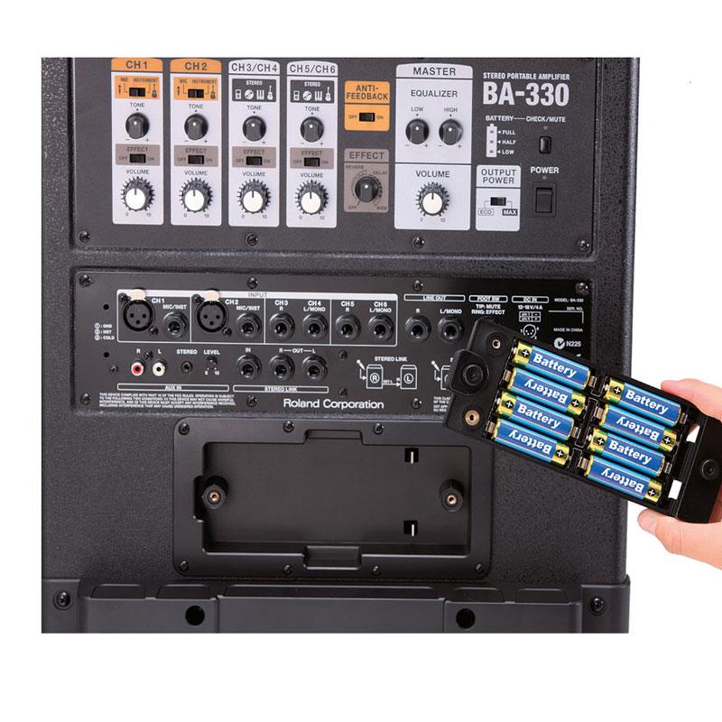 罗兰ba 330立体声便携音箱