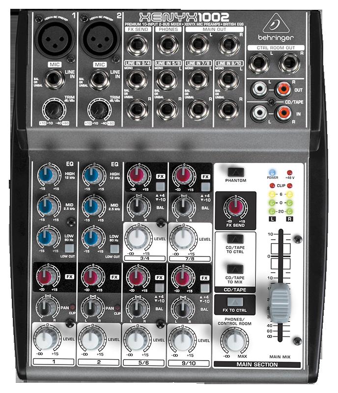 新的 xenyx 麦克风前置放大器在音频质量,音色通澈度,动态余量,甚至