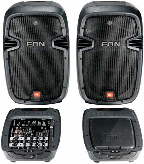 jbl eon 210p 便携式音箱 演讲家音箱 广场舞音箱 拉杆音响 拉杆音箱