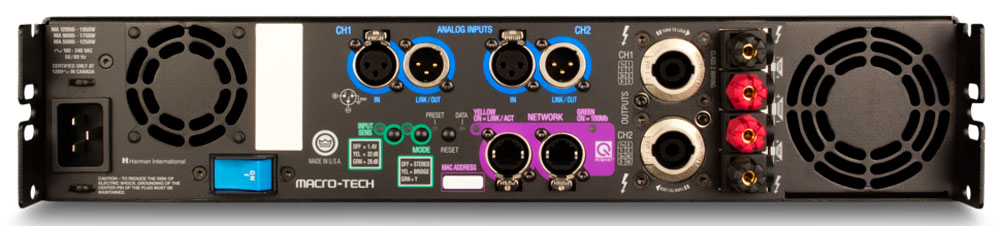 功率放大器 Class-I (I-类) 削波电路专利,为无损耗功放提供更大的功率输出。经由系统Architect® 接口的标准以太网,让操作人员在任何地方监控功放。MA-5000i输出2500W/4Ω,1250W/8Ω  特点: • MARCO-TECH® I 系列功放继承了 CROWN® Marco(MA) 系列无与伦比的精确声音和声音细节的表现,声音质量超过其它任何产品的顶级传统。 • Class-I (I-类) 削波电路专利,为无损